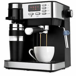 3 in 1 15-Bar Espresso, Coffee, and Cappuccino Maker w/ Frot