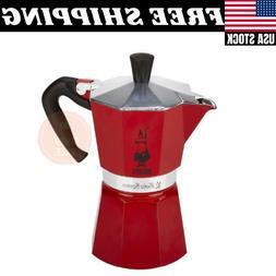 Bialetti, Moka Color Stove Top Espresso Coffee Maker, 6 Cup,