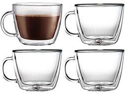 Bodum Bistro Double-Wall Insulated Glass Café Latte Mug