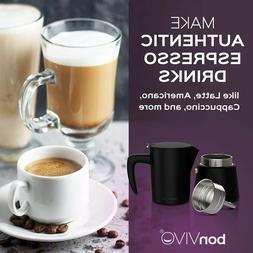 Black bonVIVO 10 oz, 300ml, Intenca Stovetop Espresso Maker,