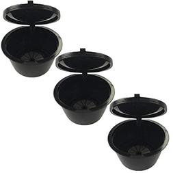 3pcs/pack Black Refillable Dolce Gusto coffee Capsule nescaf