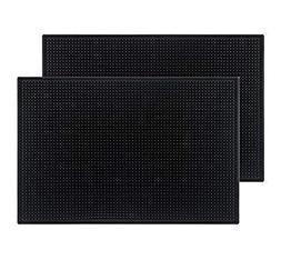 """Tebery Black Mat 18"""" x 12"""" Rubber Bar Service Spill Mat"""