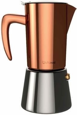 bonVIVO Intenca Stovetop Espresso Maker - Luxurious Italian