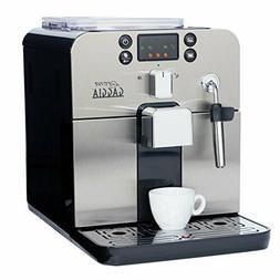 Gaggia Brera Super Automatic Espresso Machine in Black. Pann