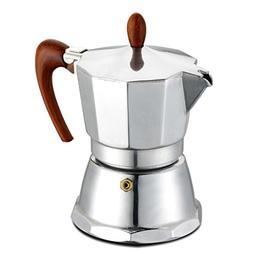 GAT Café Caffe - Stove Top Espresso Maker - Aluminium with