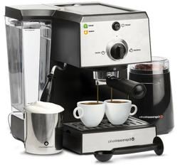 Cappuccino Maker Bean Grinder Coffee Espresso Machine Steame