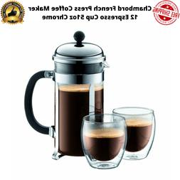 Bodum Chambord French Press Coffee Maker 12 Espresso Cup 51o