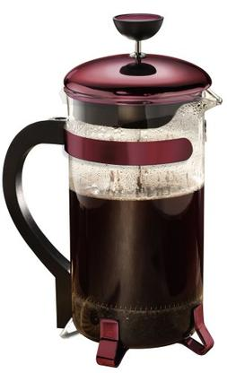 Primula Classic 8-Cup Coffee Press, Metallic Red