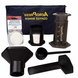AeroPress Coffee and Espresso Maker with Tote Bag and 350 Ad
