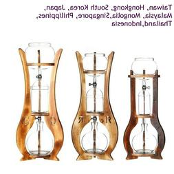 Coffee Ice Cold Brewer Dripper Glass Wooden Pillar Espresso
