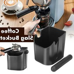 Coffee Knock Box Espresso Grinds Tamper Waste Bin Storage Co