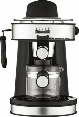 Coffee Maker Espresso Machine 4 Cup 750W Stainless Steel