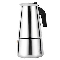Fdit Coffee Pot, 100ml/200ml/300ml/450ml Stainless Steel Sto