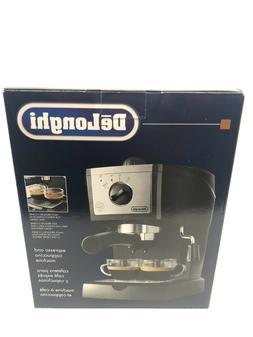 DeLonghi Espresso Machine Cappuccino Maker Black Model EC155