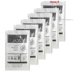 URNEX DEZCAL COFFEE MAKER & ESPRESSO DESCALER - 6 PACK