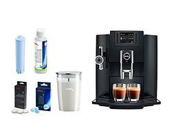 Jura E8 Coffee & Beverage Center Bundle Set With Milk Contai