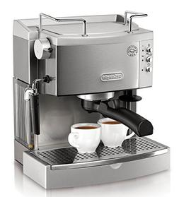 NEW DeLonghi EC702 15 Bar Pump Espresso Maker Stainless FREE