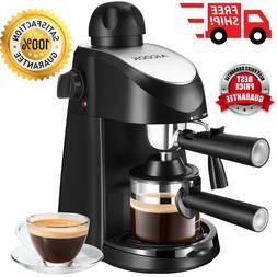 Electric Coffee Maker Espresso Cappuccino Machine Milk Froth
