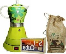 Electric Cordless Espresso Cuban Coffee Maker 4 Cups Color G