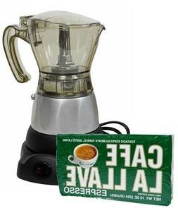 Electric Cuban Coffee Maker 3 to 6 Cups