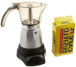 Electric Espresso Coffee Makes 3-6 Cups. 10 oz Bustelo Espre