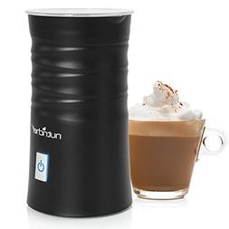 NutriChef Electric Milk Frother & Milk Warmer Black PKFMR11B
