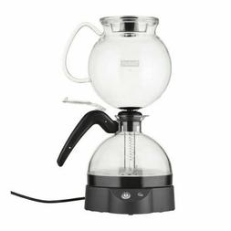 Epebo Coffee Maker, Electric Vacuum Siphon Brewer, Black, 34