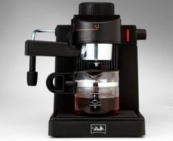 New MELITTA Espresso Cappuccino Maker Machine 4 Cup Black Mo