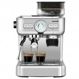 Espresso Cappucino Machine Coffee Maker Stainless Steel w/ G