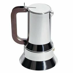 Espresso Coffee Maker ALESSI 9090/6 in 18/10 Stainless Steel