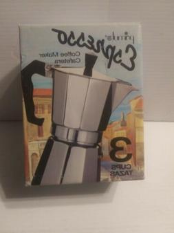 Primula Espresso Coffee Maker Heavy Weight Aluminum  3 Cups.