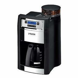 KRUPS Espresso Grinder Brewer Auto Start Maker Coffee 10 cup