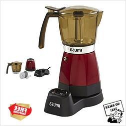 Imusa Espresso Machine 6 Cup Electric Cappuccino Coffee Make