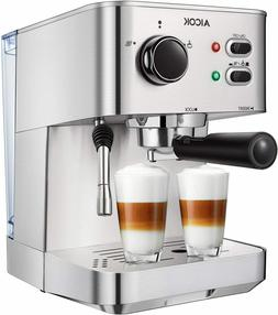 Espresso Machine Cappuccino Coffee Maker with Milk Steamer F