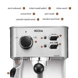 Espresso Machine Aicok, Cappuccino maker, Latte Coffee, 15 B