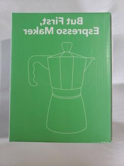 Vremi stovetop espresso Maker for gas or electric stove blac
