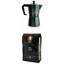 Primula 6-cup Espresso Maker with Kicking Horse Coffee, Whol