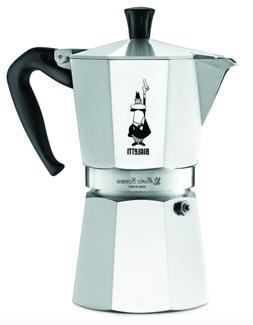 Espresso Maker Machine Stovetop Coffee Pot Italy Silver Alum