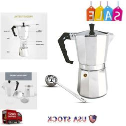 Espresso Maker Moka Express Made in Italy 6-Cup Stovetop Esp