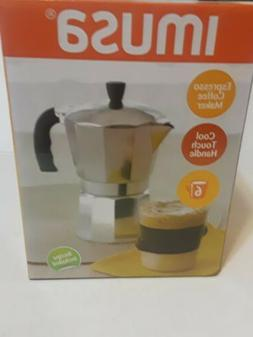 espresso stovetop coffee maker cool touch handle