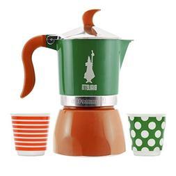 Bialetti Fiammetta - 3 Cup Espresso Coffee Maker and 2 Espre