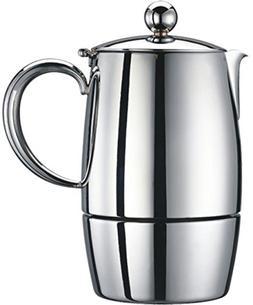 Cuisinox Firenza 6 Cup Espresso Coffeemaker, Silver