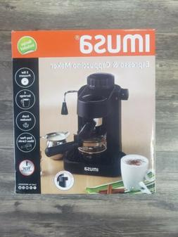 Free Shipping! New Imusa 4 Cup Espresso And Cappuccino Maker