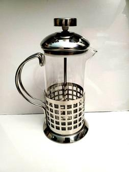 French Press Coffee Maker 12oz Stainless Steel with Mirror F