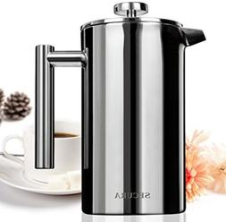 French Press Coffee Maker, Kitchen Dining Stainless Applianc