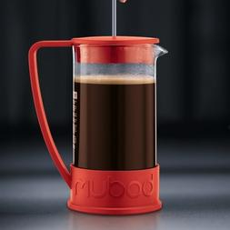 Bodum French Press Ground Coffee Maker 34OZ Red Caffeine Pro