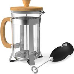 Vremi French Press - 8 Cup Premium Coffee Maker with Heat Re