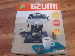 IMUSA GAU-18206 Gourmet Espresso/Cappuccino Maker 4-Cup, Sil