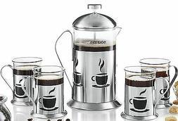 Gourmia GCM9845 Decorative French Press Coffee Maker Brewer