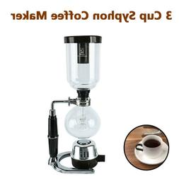 Glass Espresso Machines & Coffee Makers Tabletop Siphon  3 C